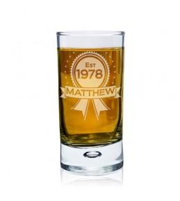 Personalised Established Shot Glass