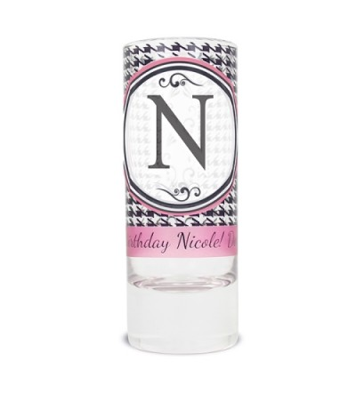 Personalised Houndstooth Shot Glass