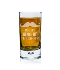 Personalised Moustache Shot Glass
