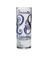 Personalised Fabulous Numbers Shot Glass