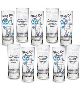 Personalised Stag Do Shot Glass 10 Pack