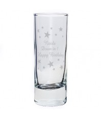 Personalised Stars Shot Glass