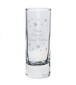 Personalised Stars Shot Glass