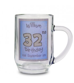 Personalised Blue Happy Birthday Tankard