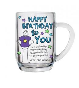 Personalised  Happy Birthday Tankard