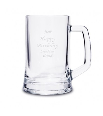 Engraved Pint Glass Tankard