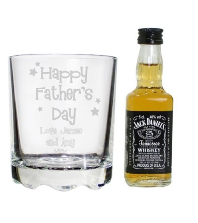 Personalised Father's Day Jack Daniels Glass Set