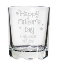 Personalised Father's Day Whisky Glass