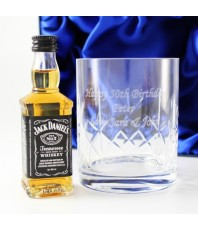 Personalised Crystal Tumbler & Jack Daniels Set