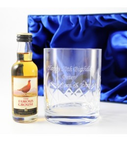Personalised Crystal Tumbler & Whisky Set