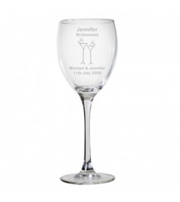 Personalised Designer Wedding Wine Glass