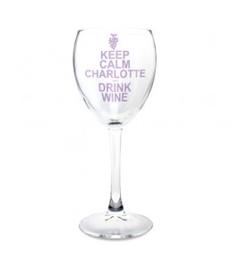 Personalised Keep Calm Wine Glass