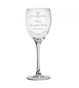 Personalised Ornate Swirls Wine Glass