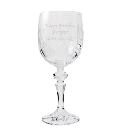 Personalised Crystal Wine Glass