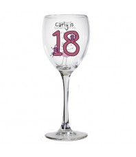 Personalised Purple Ronnie Wine Glass - Young Female